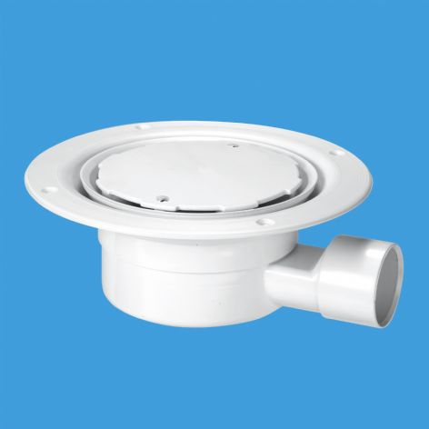 McAlpine VSG1WH White Plastic Clamp Ring with Cover Plate Gully